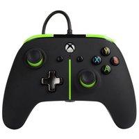 PowerA Enhanced Xbox One Wired Controller - Green Stripe