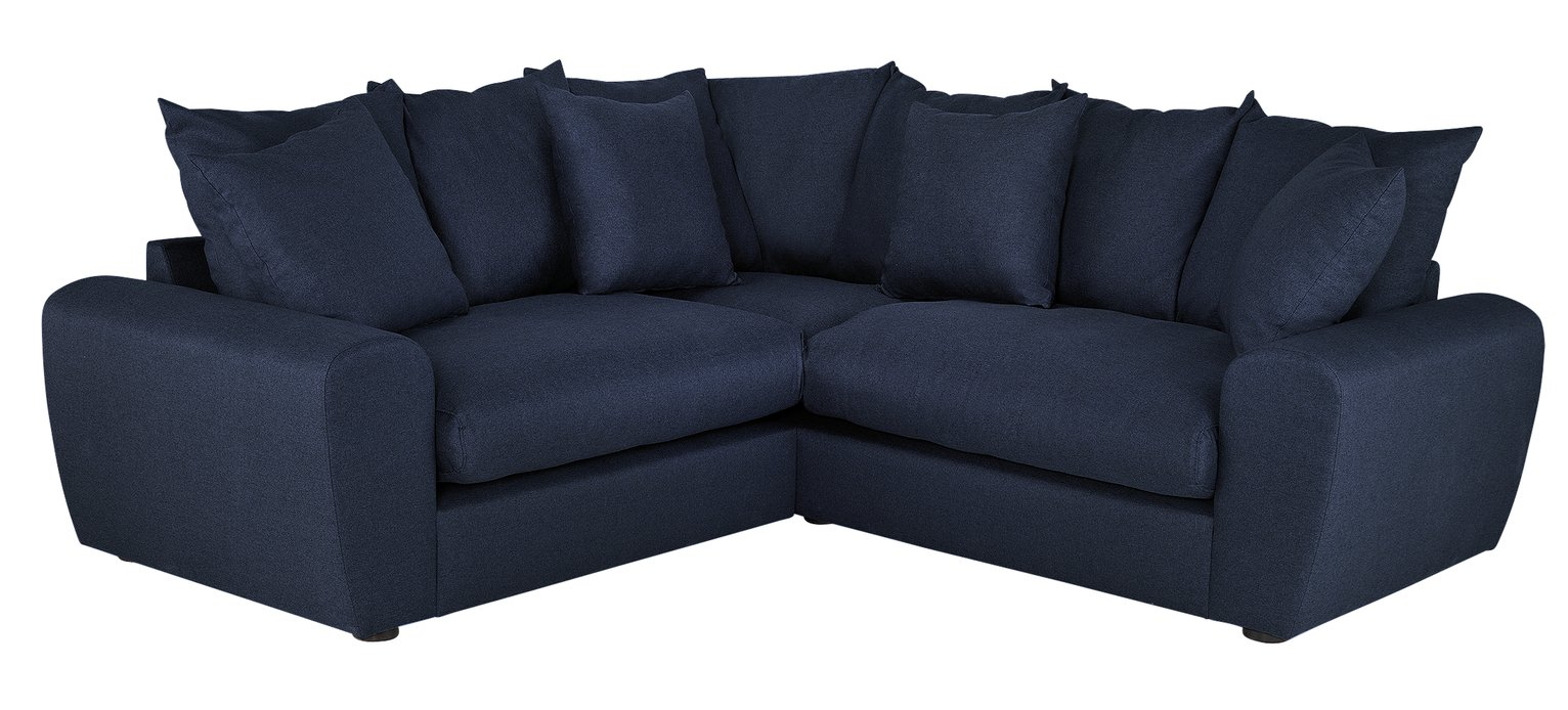 Argos Home Billow Corner Fabric Sofa - Blue
