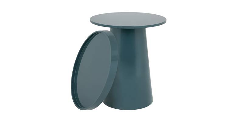 Habitat Brodi Petrol Blue Removeable Tray Top Side Table