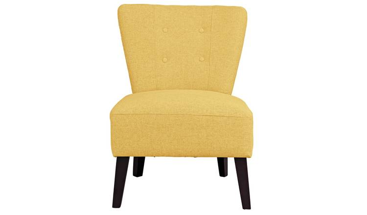 Habitat Delilah Fabric Cocktail Chair - Yellow
