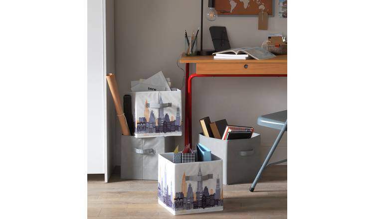 Argos Home Teen City Canvas Boxes