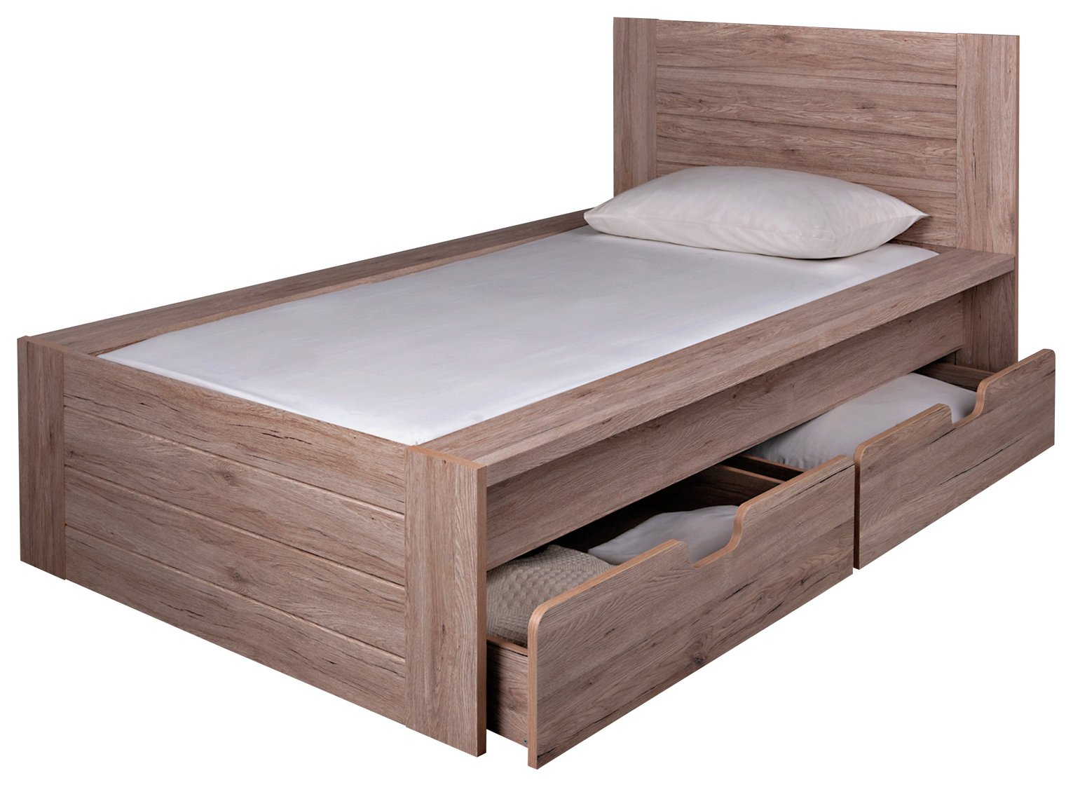 Argos Home Seattle Warm Oak Single Bed