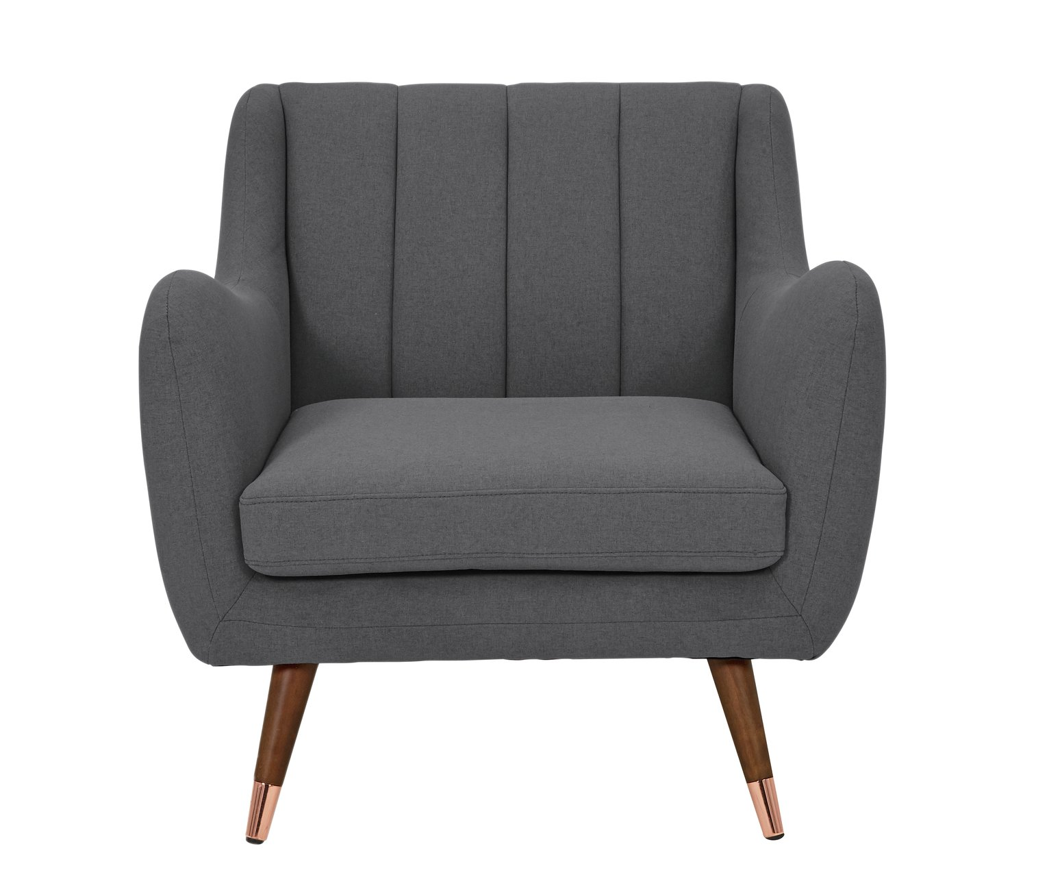 Argos Home Leila Fabric Armchair - Charcoal