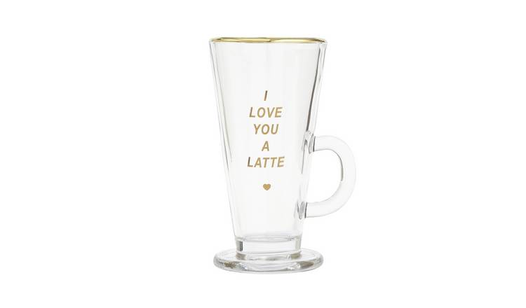 I Love You Latte Glass