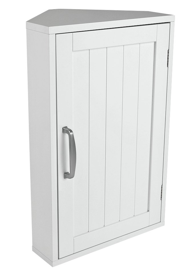 Argos Home Tongue and Groove Single Corner Cabinet - White