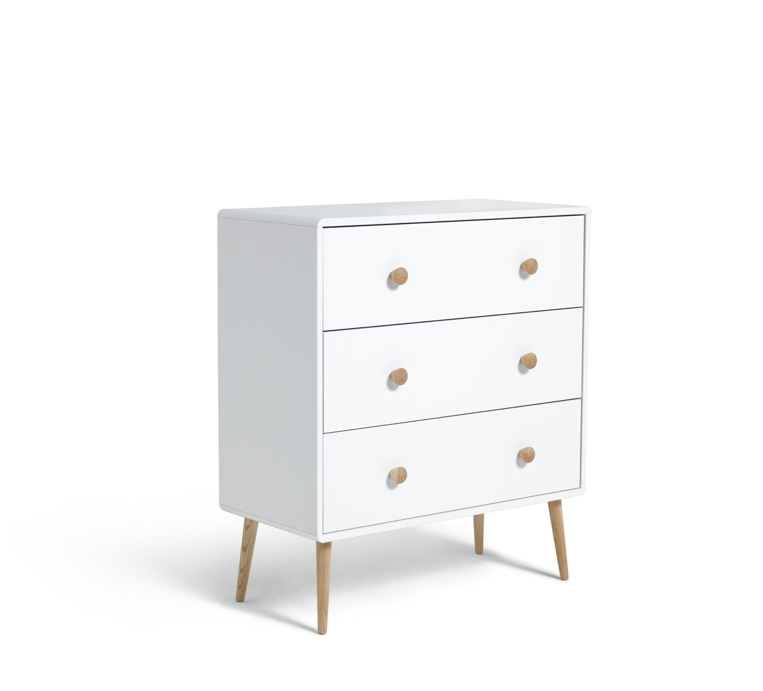 Argos Home Bodie White 3 Drawer Chest of Drawers