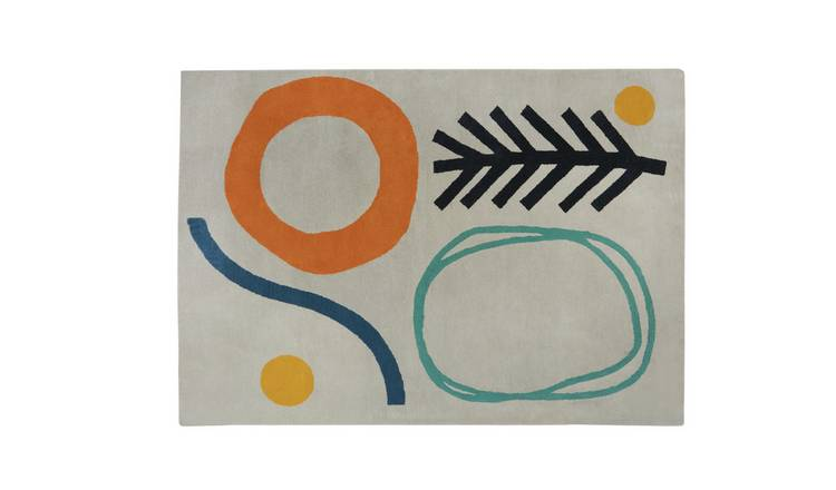 Habitat Novak Abstract Rug - 160 x 230cm - Multicoloured