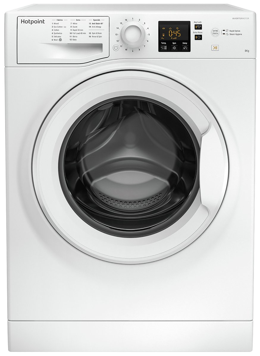 Hotpoint NSWM843CW 8KG 1400 Spin Washing Machine - White