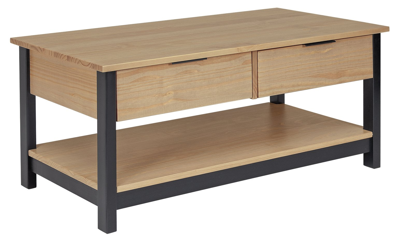 Argos Home Industrial Pine Coffee Table - Natural