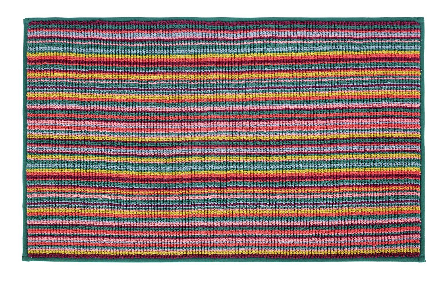 Argos Home Skinny Stripes Bath Mat