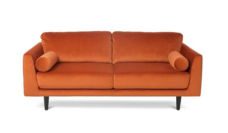 Superb Buy Argos Home Jackson 3 Seater Velvet Sofa Orange Sofas Argos Download Free Architecture Designs Grimeyleaguecom