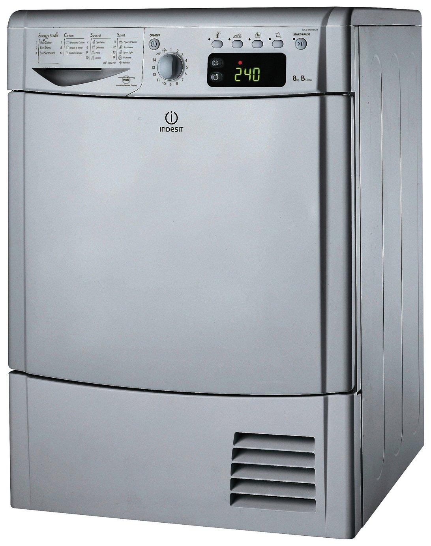 Indesit IDCE8450BSH 8KG Condenser Tumble Dryer - Silver