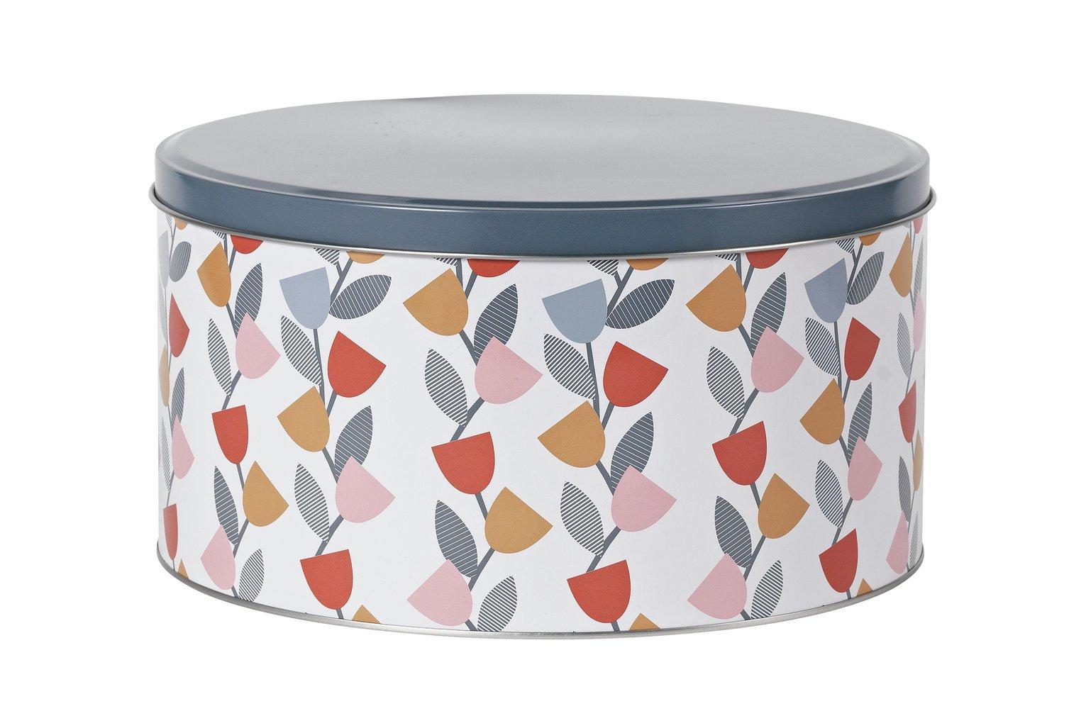 Argos Home Apartment Apparel Floral Cake Tin