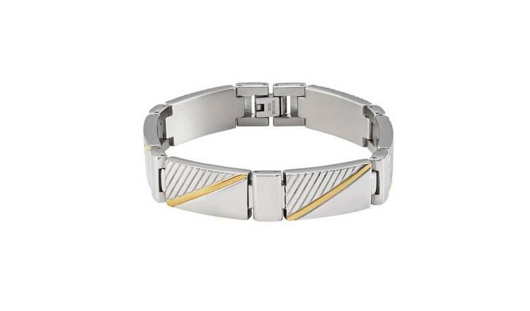 Revere Men's Two Tone Stainless Steel Bracelet