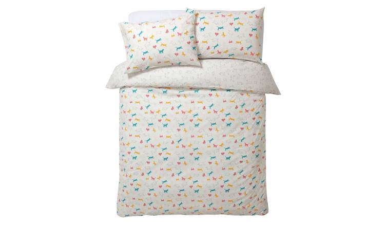 Habitat Cats Print Reversible Bedding Set - Single