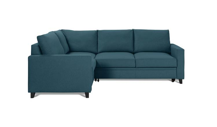 Habitat Seattle Left Corner Fabric Sofa Bed - Blue