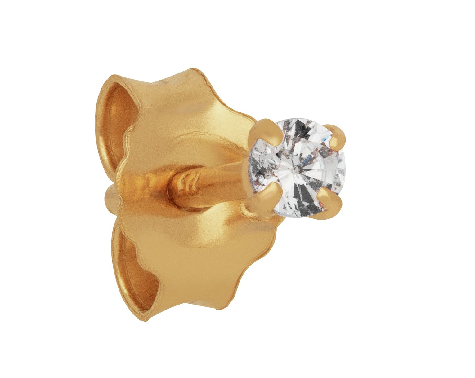 State of Mine Gold Cubic Zirconia Single Stacking Stud