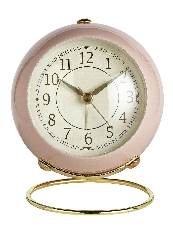 Wm. Widdop Retro Alarm Clock - Pink & Gold