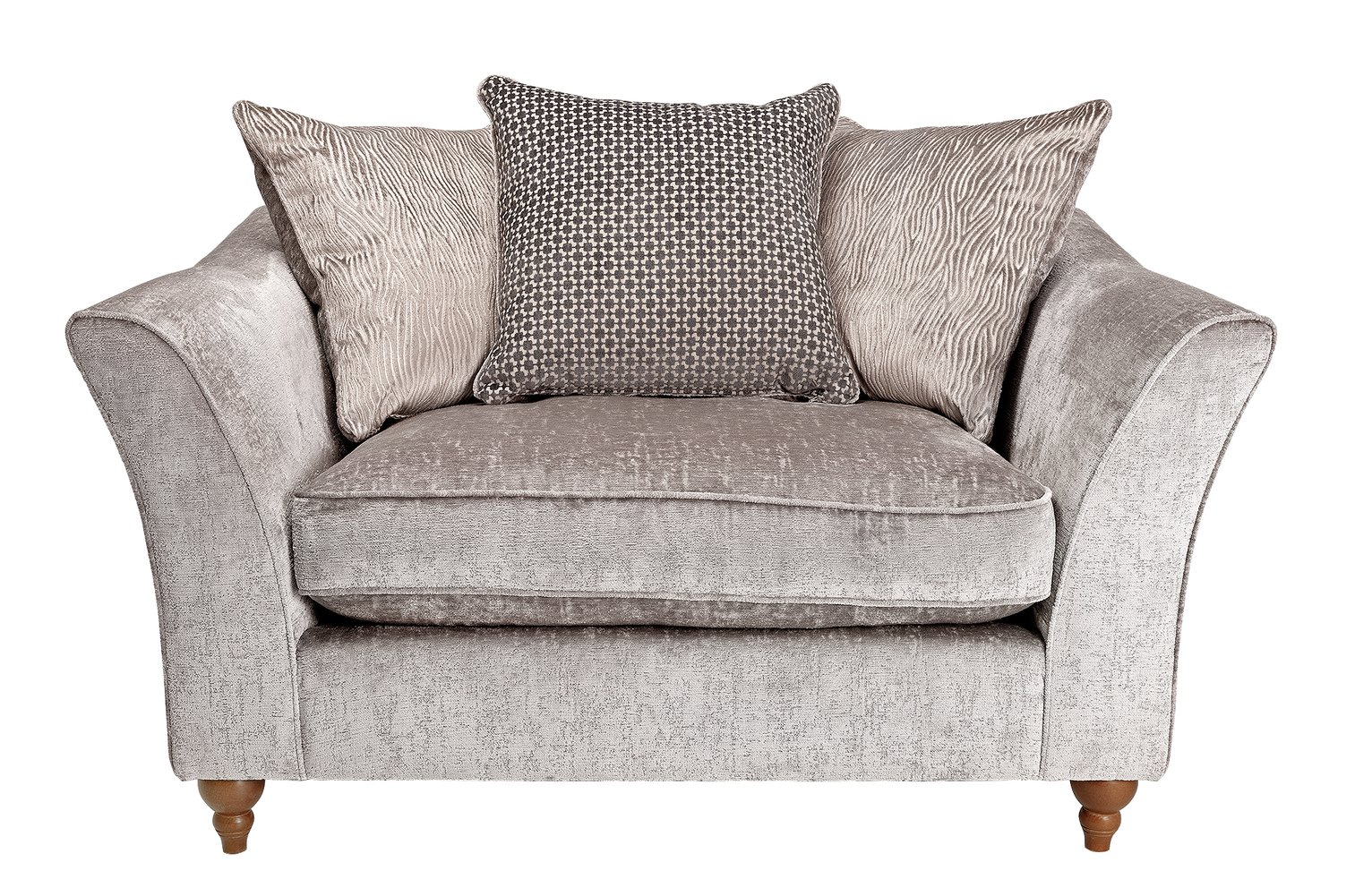 Argos Home Buxton Fabric Cuddle Chair - Truffle