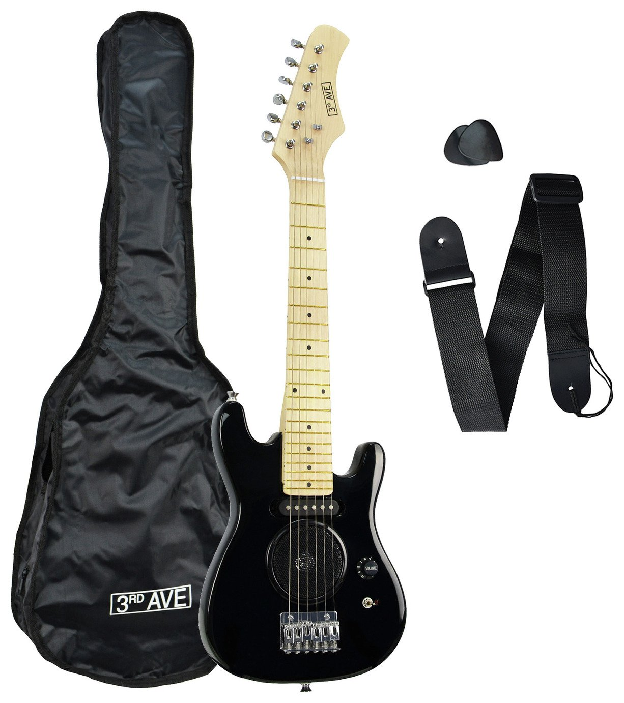 3rd Avenue 1/4 Size Junior Electric Guitar - Black