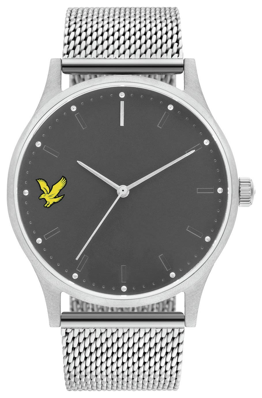 Lyle and Scott Men's Grey Mesh Bracelet Watch
