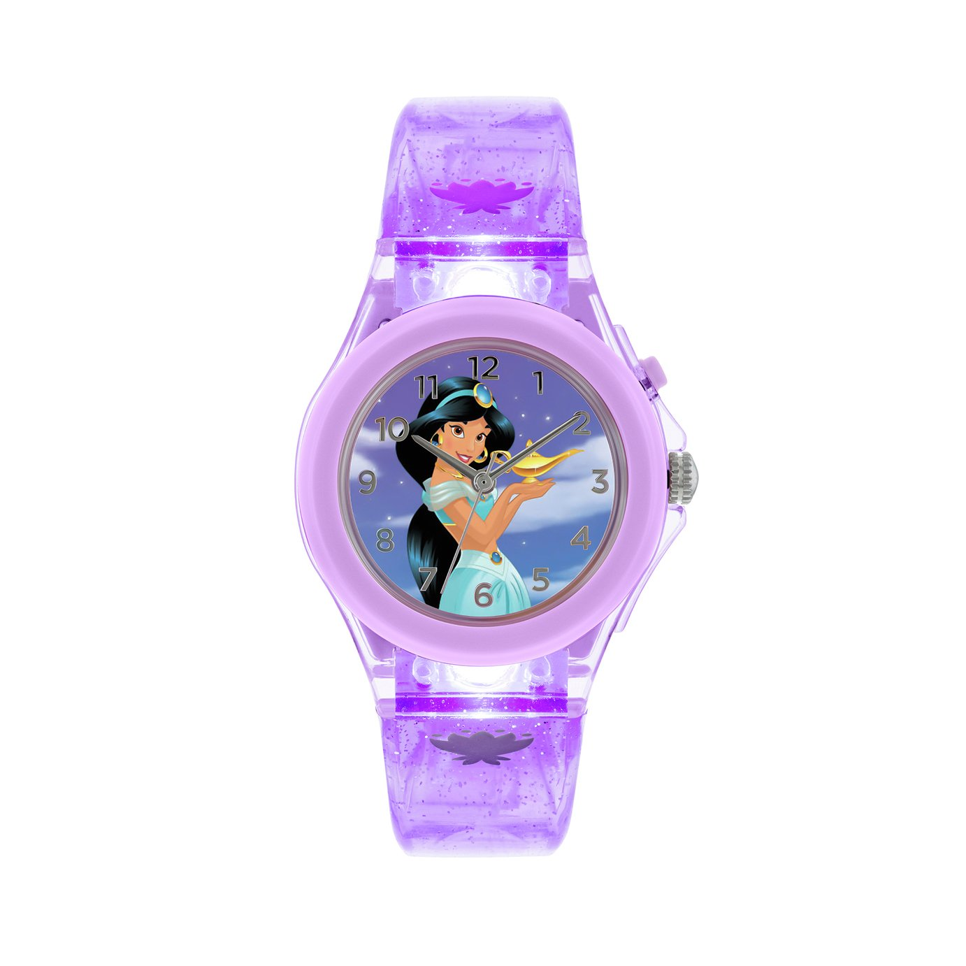 Disney Childrens Jasmine Blue Plastic Strap Watch