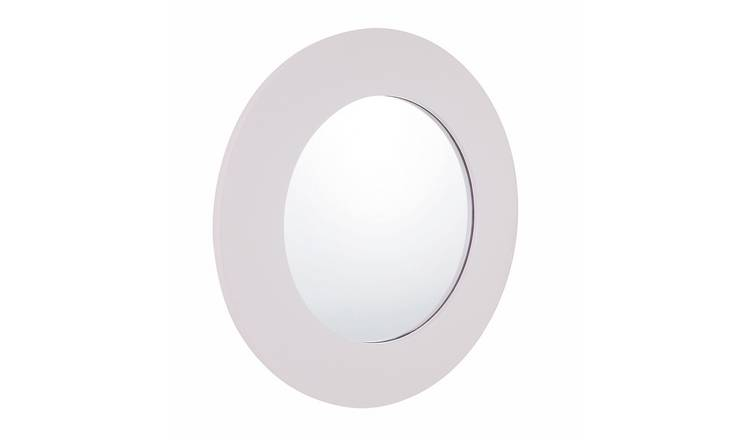 Habitat Lissy Lilac High Gloss Round Mirror