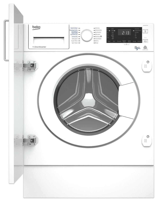 Beko WDIY854310F 8KG/5KG Integrated Washer Dryer - White