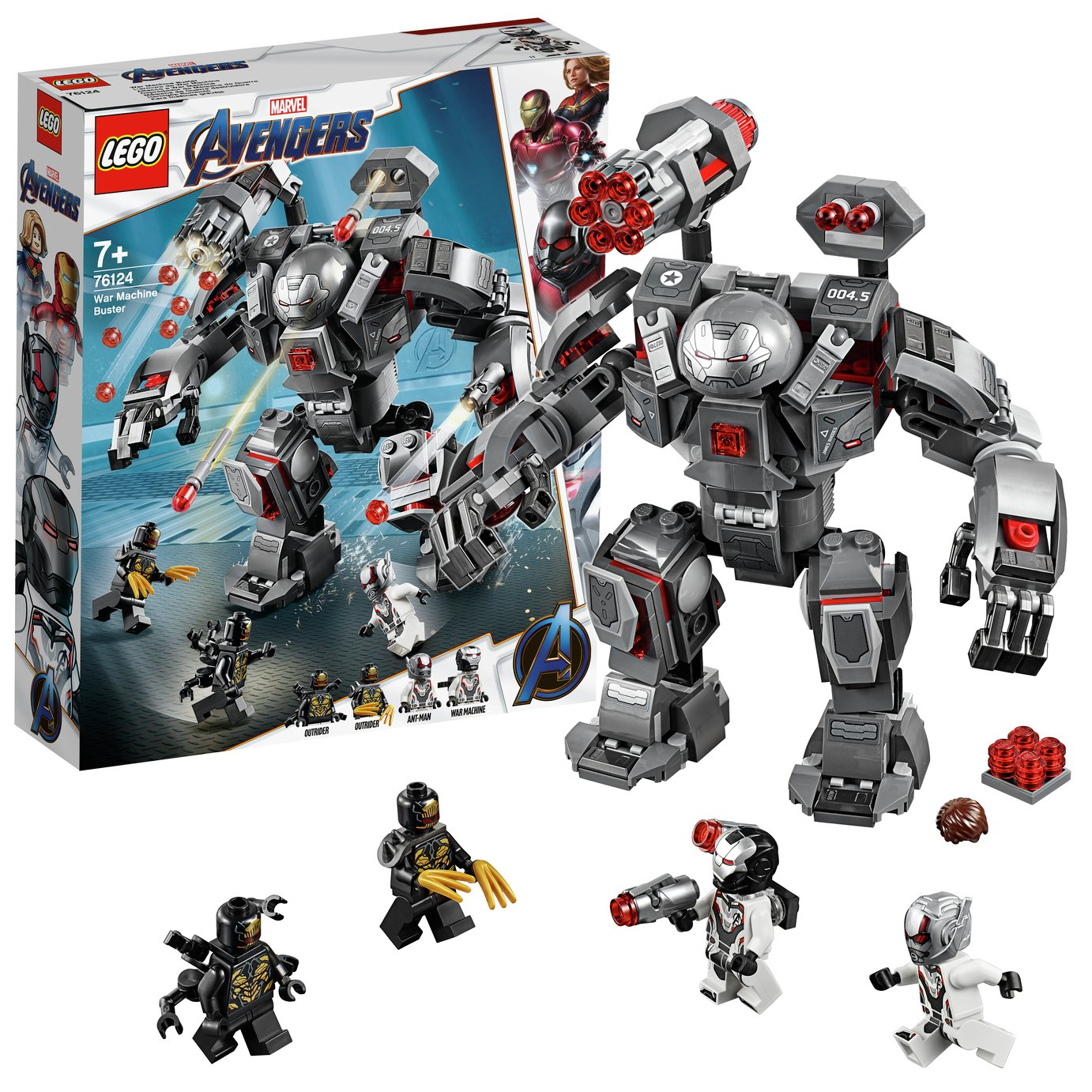 LEGO Marvel Avengers War Machine Buster Building Set - 76124