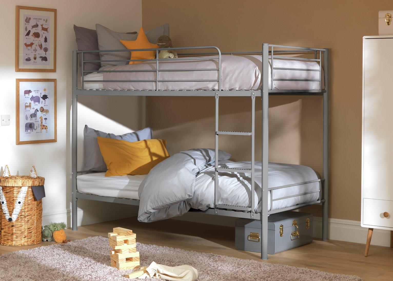 Argos Home Mason Metal Bunk Bed Frame - Silver