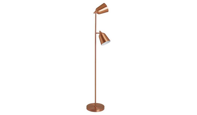 Habitat Double Floor Lamp - Copper