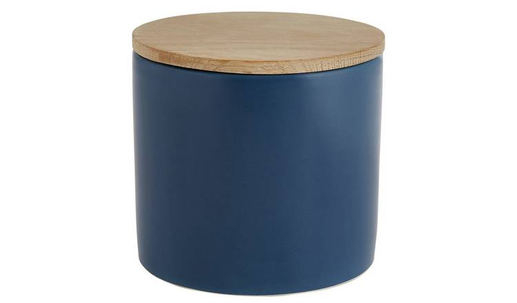 Habitat Sook Ceramic Storage Jar - Blue