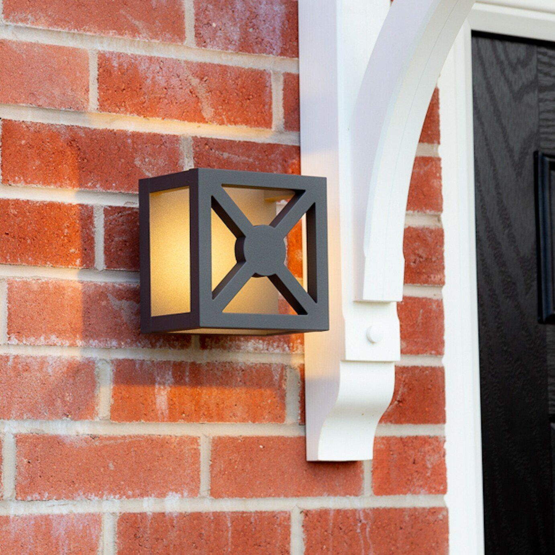Smartwares Black Outdoor Wall Light