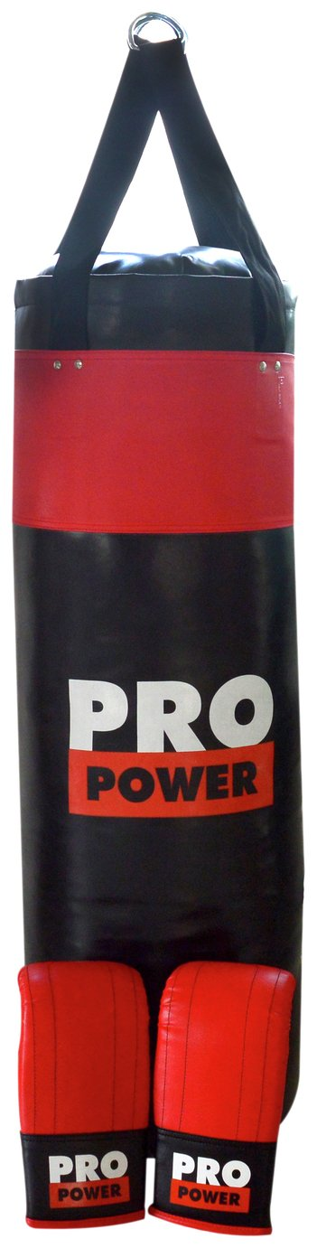 Pro Power 4ft Punch Bag with Boxing Gloves