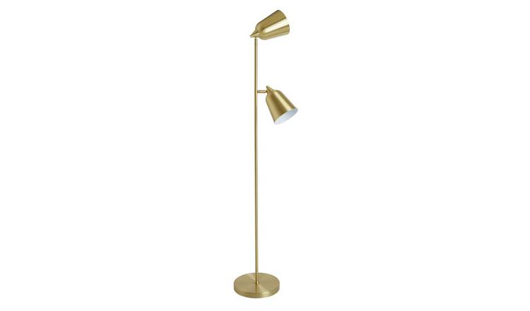 Habitat Uplighter & Reading Floor Light - Brass