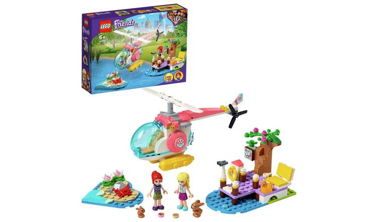 LEGO Friends Vet Clinic Rescue Helicopter Toy 41692