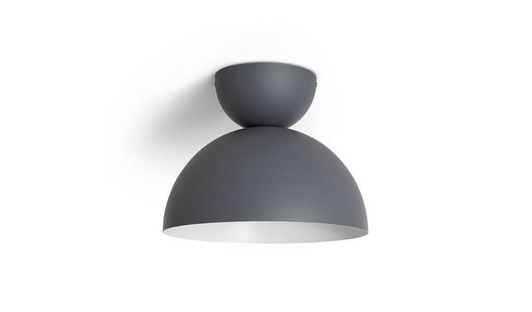 Habitat Metal Diablo Flush to Ceiling Light - Grey