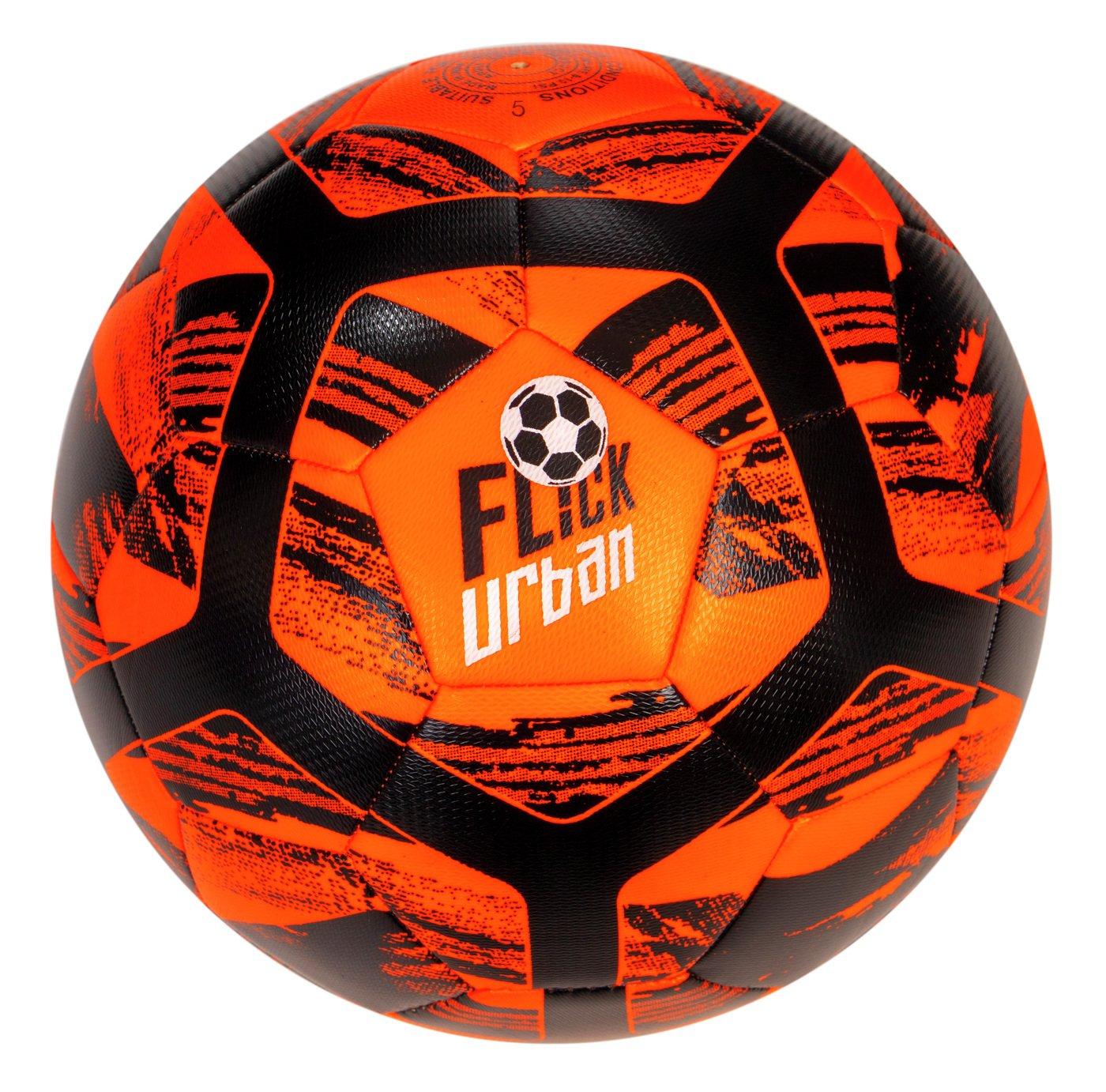 Football Flick Urban Size 5 Football - Orange and Black