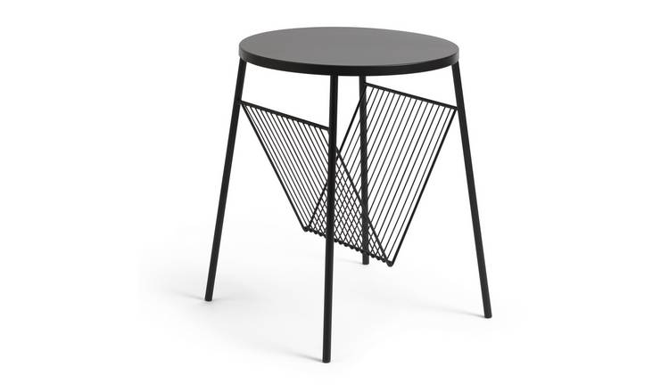 Habitat Mid Century Record Holder Table - Black
