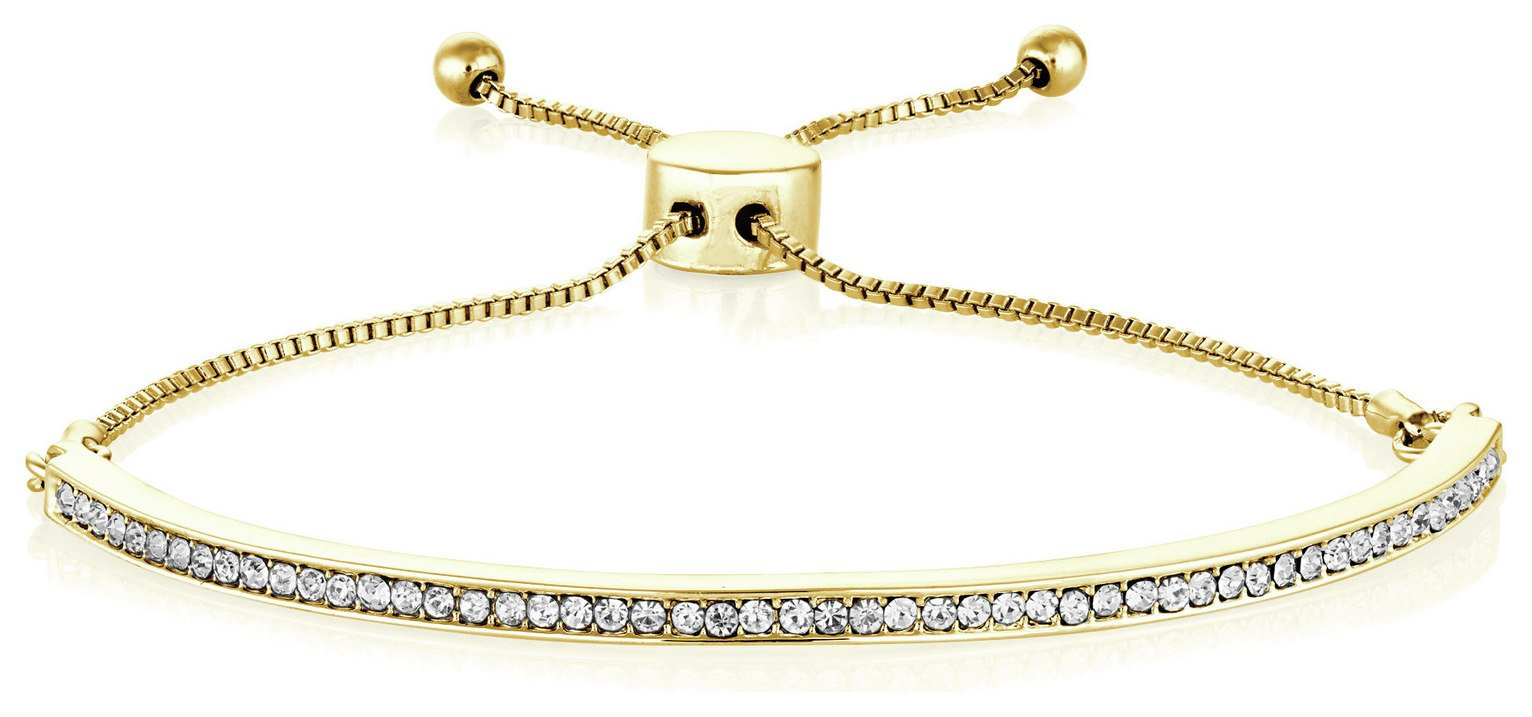 Buckley London Portobello Yellow Gold Crystal Bracelet