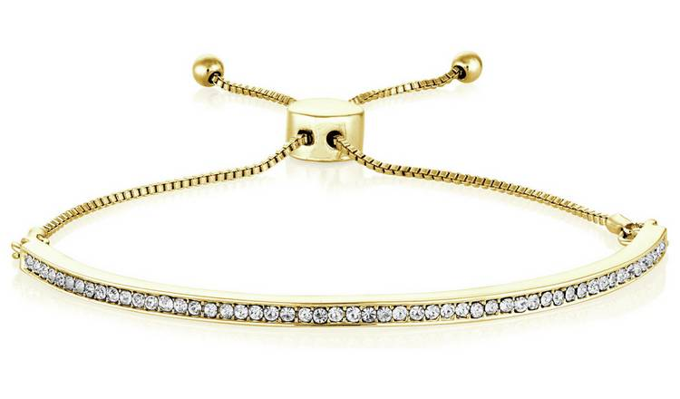 Buckley London Portobello Yellow Gold Crystal Bracelet