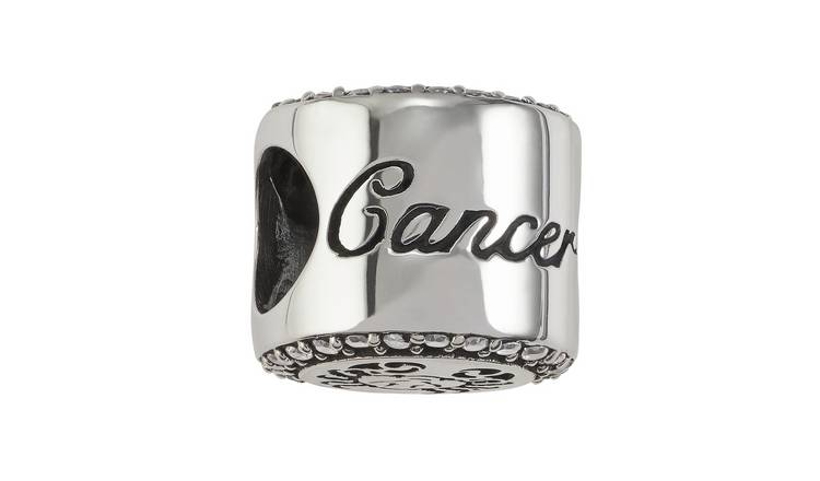 Moon & Back Sterling Silver Zodiac Charm - Cancer