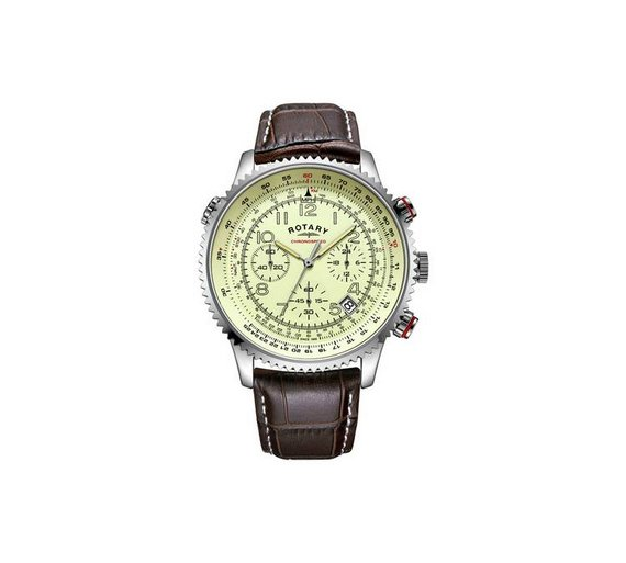 buy rotary men s brown strap chronograph watch at argos co uk rotary men s brown strap chronograph watch935 0380