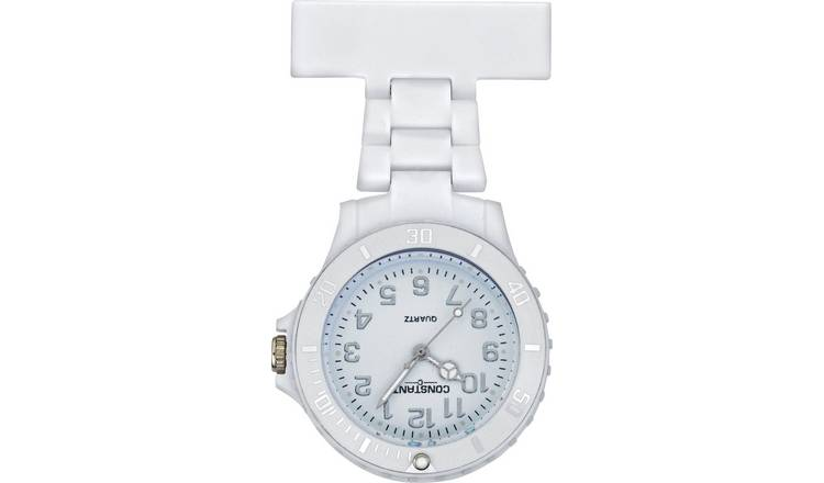 Buy Constant Nurses' White Sports Fob Pin Fastening Watch | Womens watches | Argos