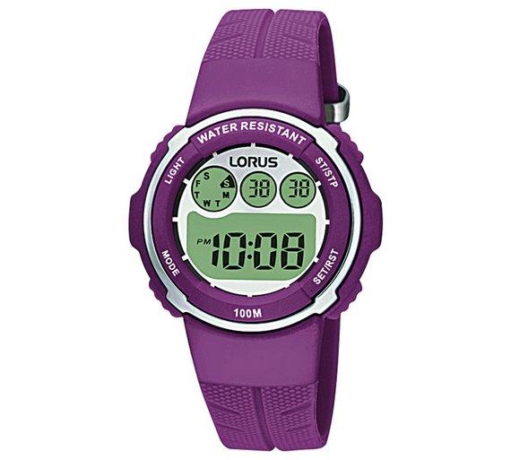 Buy Lorus Ladies Digital Purple Strap Watch Ladies Watches Argos