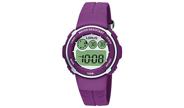Lorus Ladies  Purple Resin Strap Watch