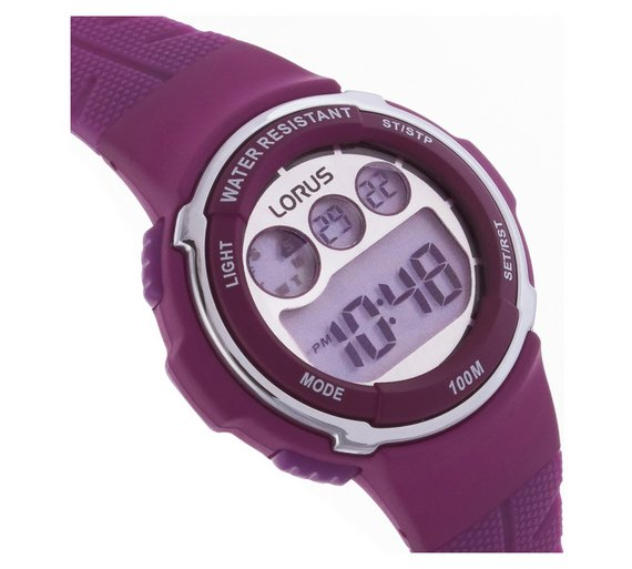 Buy Lorus Ladies Digital Purple Strap Watch Ladies Watches Argos