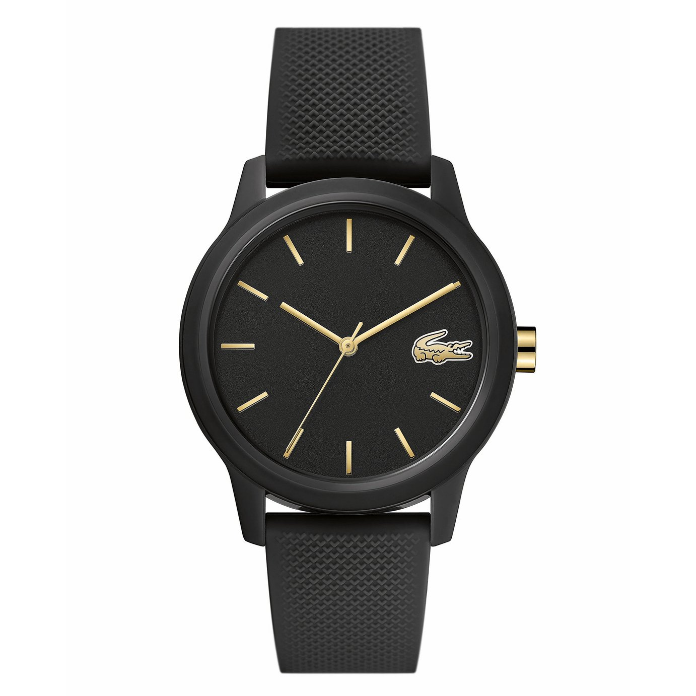 Lacoste Ladies Black Silicone Strap Watch