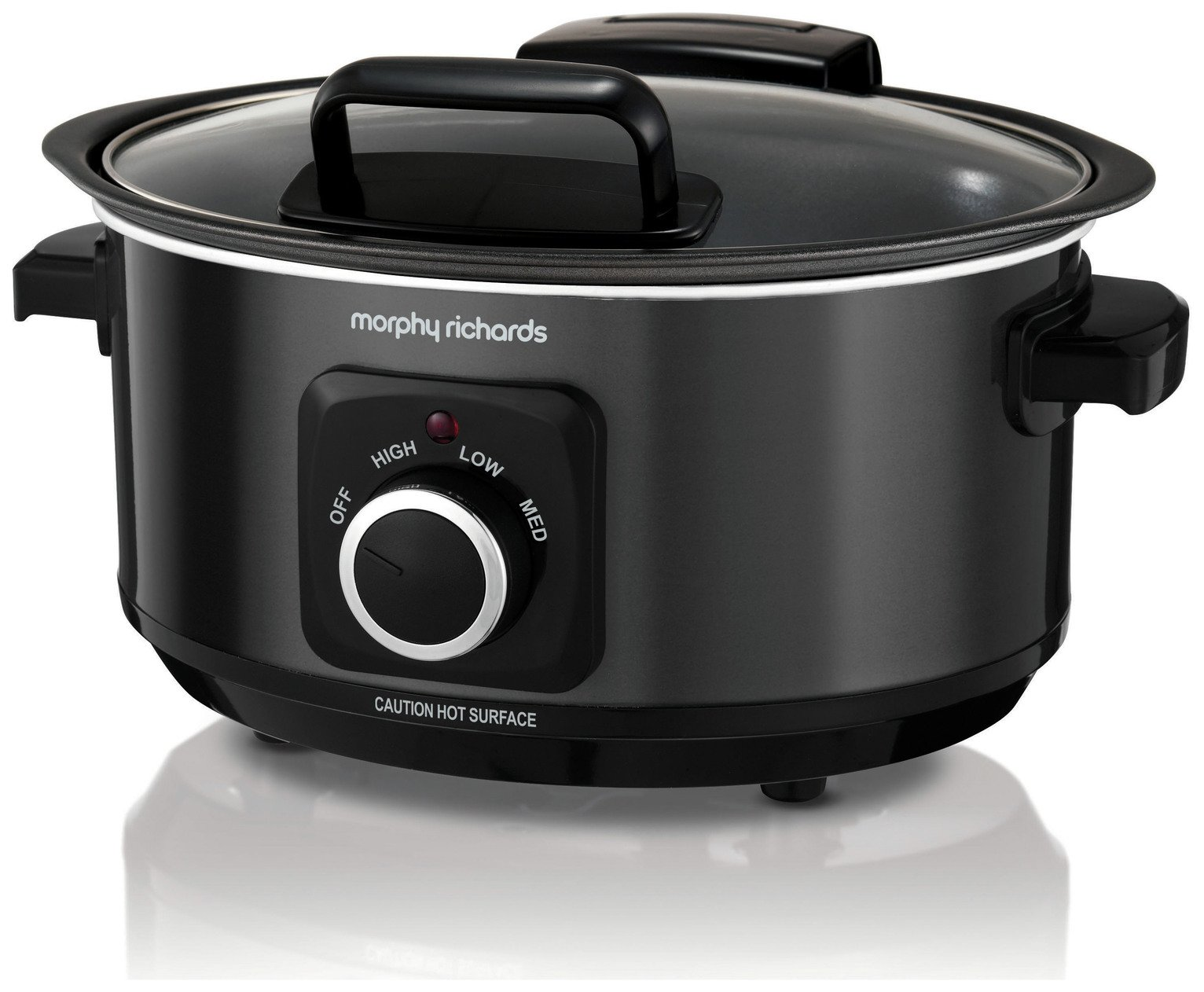 Morphy Richards 3.5L Hinged Lid Slow Cooker - Black