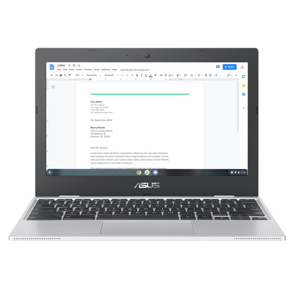 ASUS CX1100 11.6in Celeron 4GB 64GB Chromebook - Silver